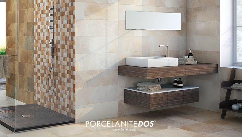 Elegantes combinaciones de cer micas imitaci n piedra para - Combinaciones de colores de ceramicas para banos ...
