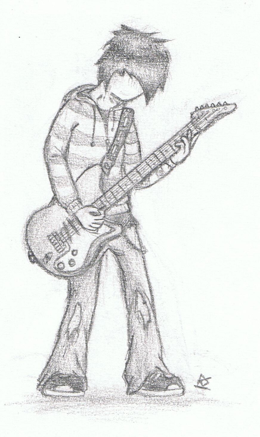 Guitar sketch guitar drawing boy sketch boys playing sad girl animal