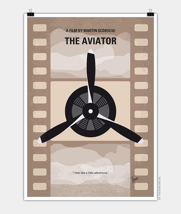 No618 My The Aviator Minimal Movie Poster