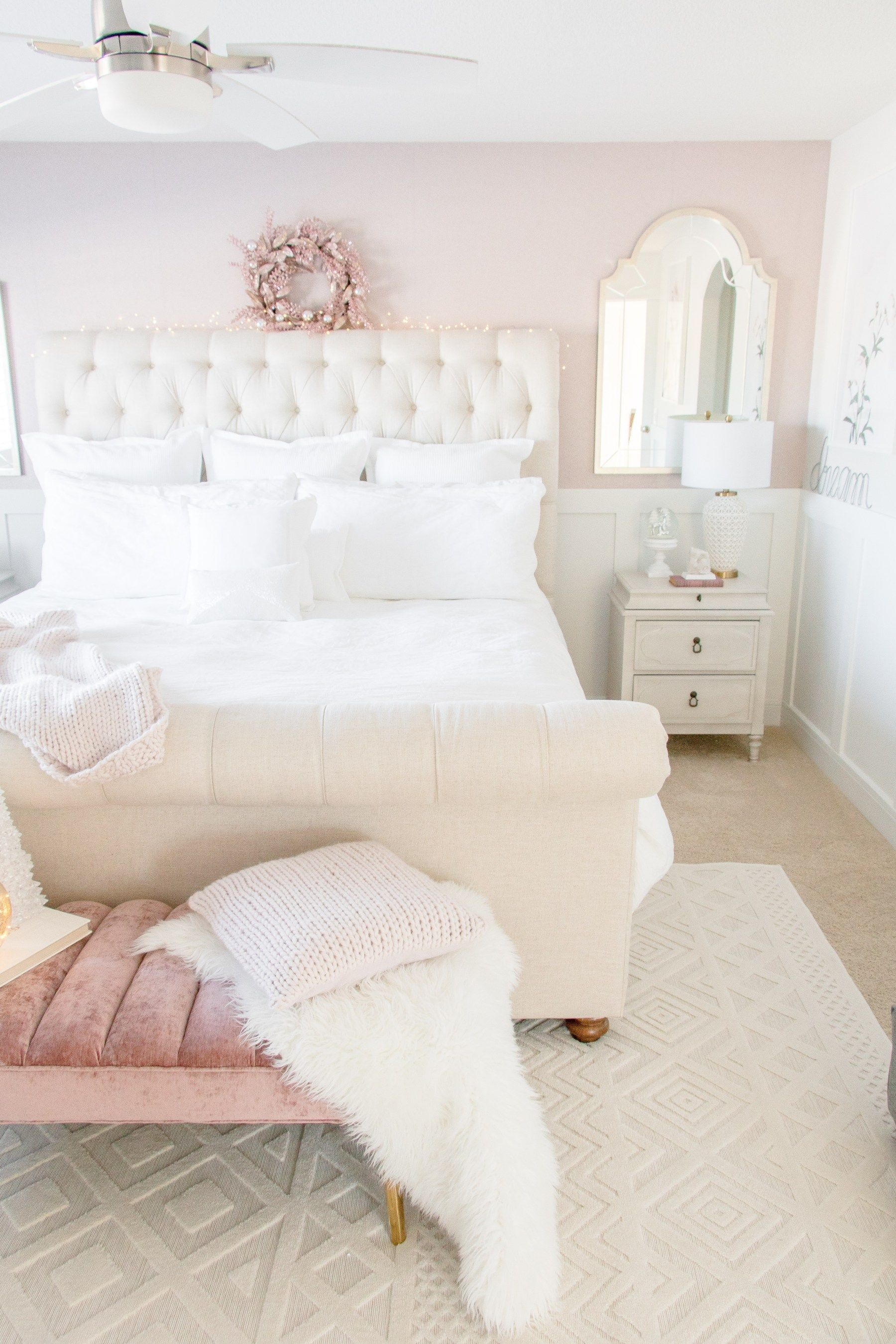 Luxurious Master Bedroom Refresh White Master Bedroom Pink