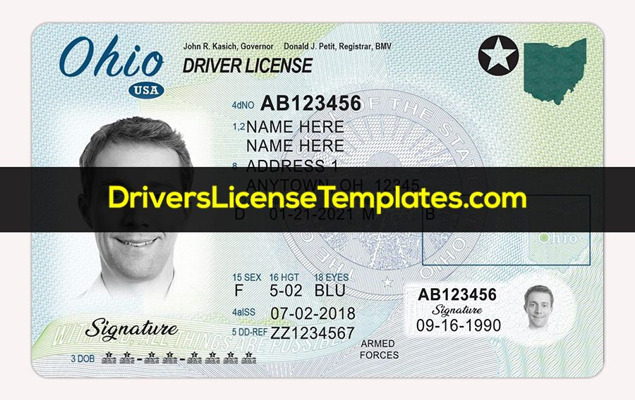 Pin On Drivers License Template Psd