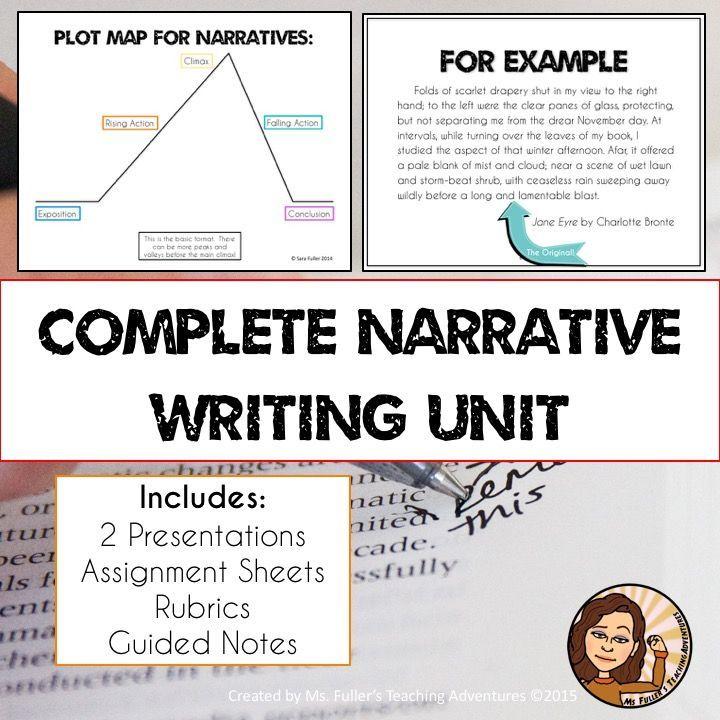 Narrative Writing Unit Bundle Short Stories Literacy