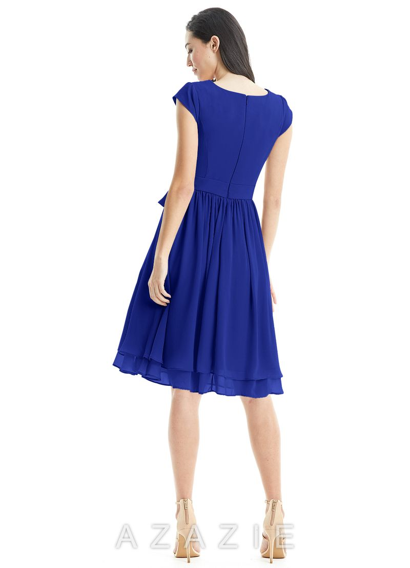 169f40a554 Azazie Ingrid. Azazie Ingrid Dusty Blue Bridesmaid Dresses ...