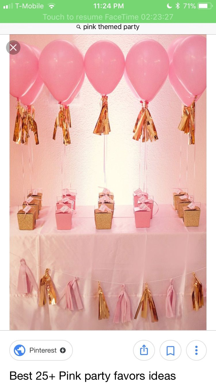1st Birthday Party Favors Girl Return Gifts Pink First