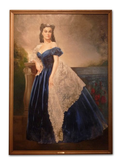 This life-sized portrait of Scarlett O'Hara hung on the wall in Rhett Butler's bedroom in the film Gone With the Wind. The painting is currently on display at the Margaret Mitchell House.