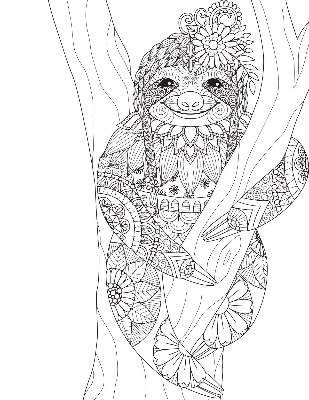 Coloriage Animal Coloring Pages Animal Coloring Books Sloth