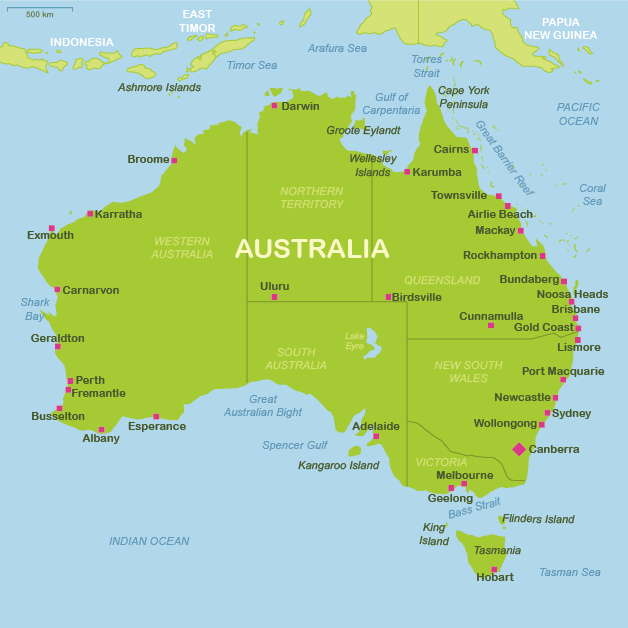 australia map of airports