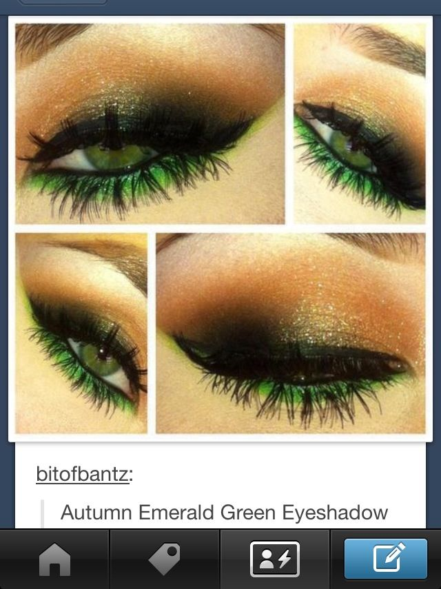 Green eyeshadow makeup be lovely on trenna!!!!