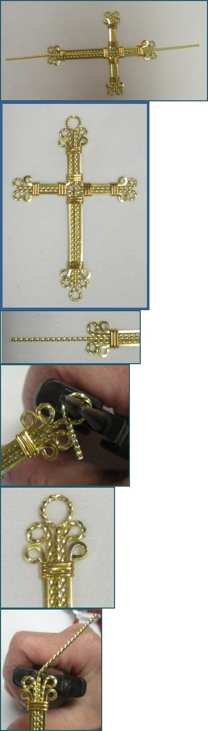 Twisted Wire Wrapped Cross Pendant Tutorial | Jewelry | Pinterest ...