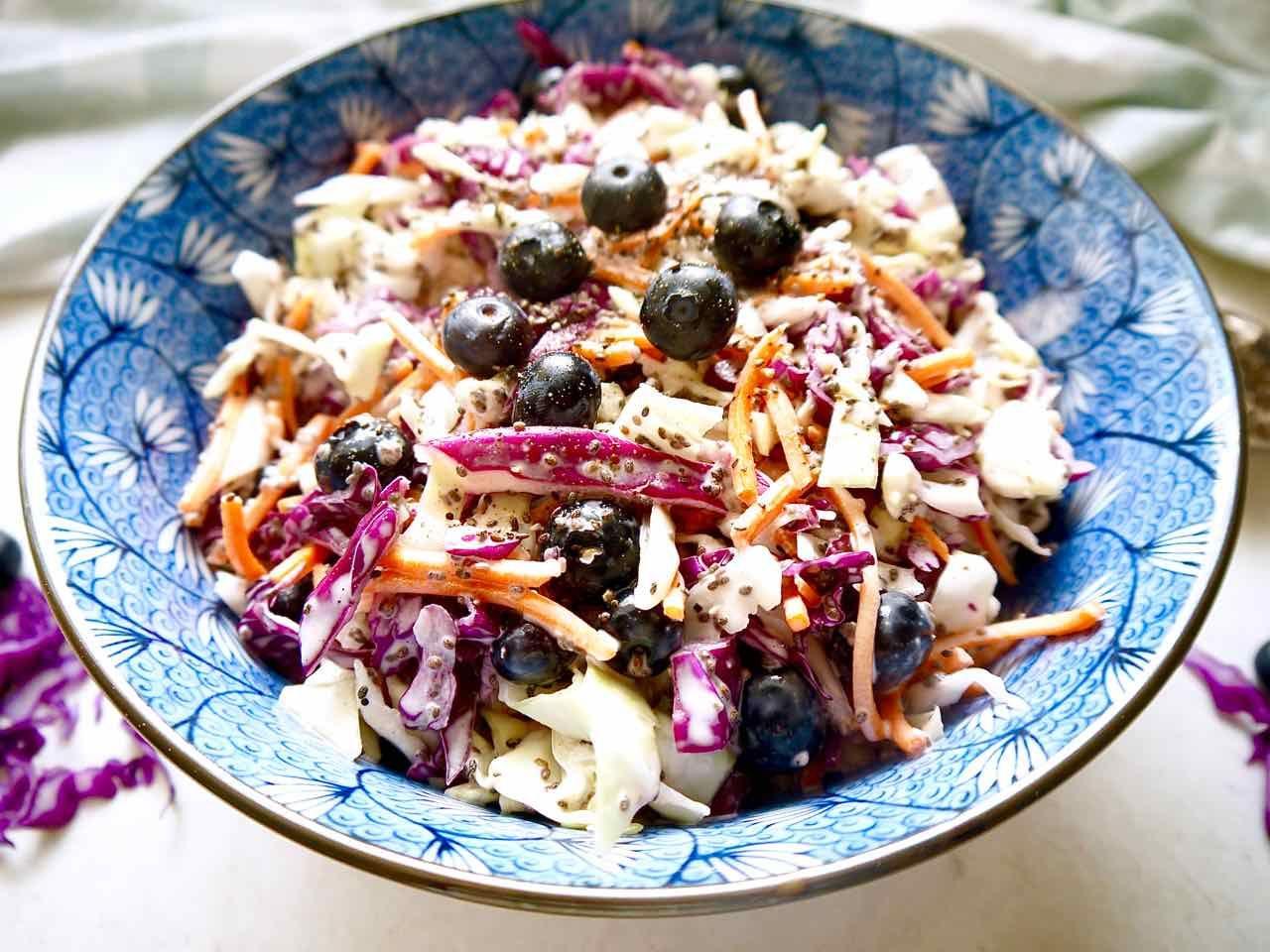 Blueberry Chia Seed Coleslaw (Paleo, GF) Recipe