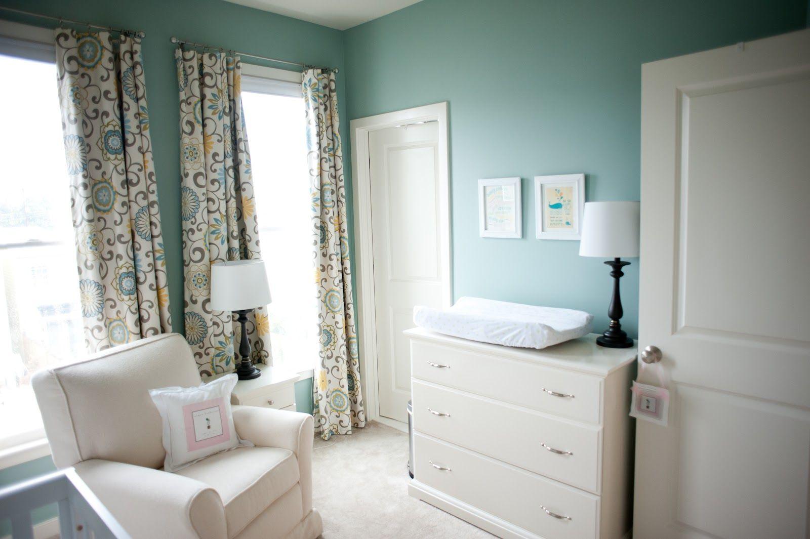 bm wythe blue paint nursery colors love the curtains