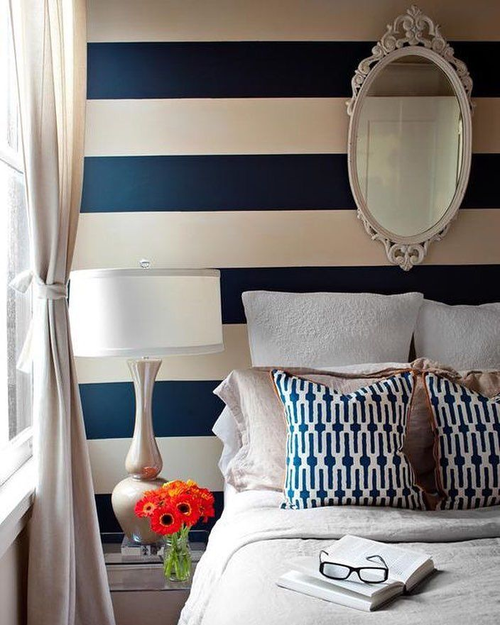 New Painted Stripes On Bedroom Walls