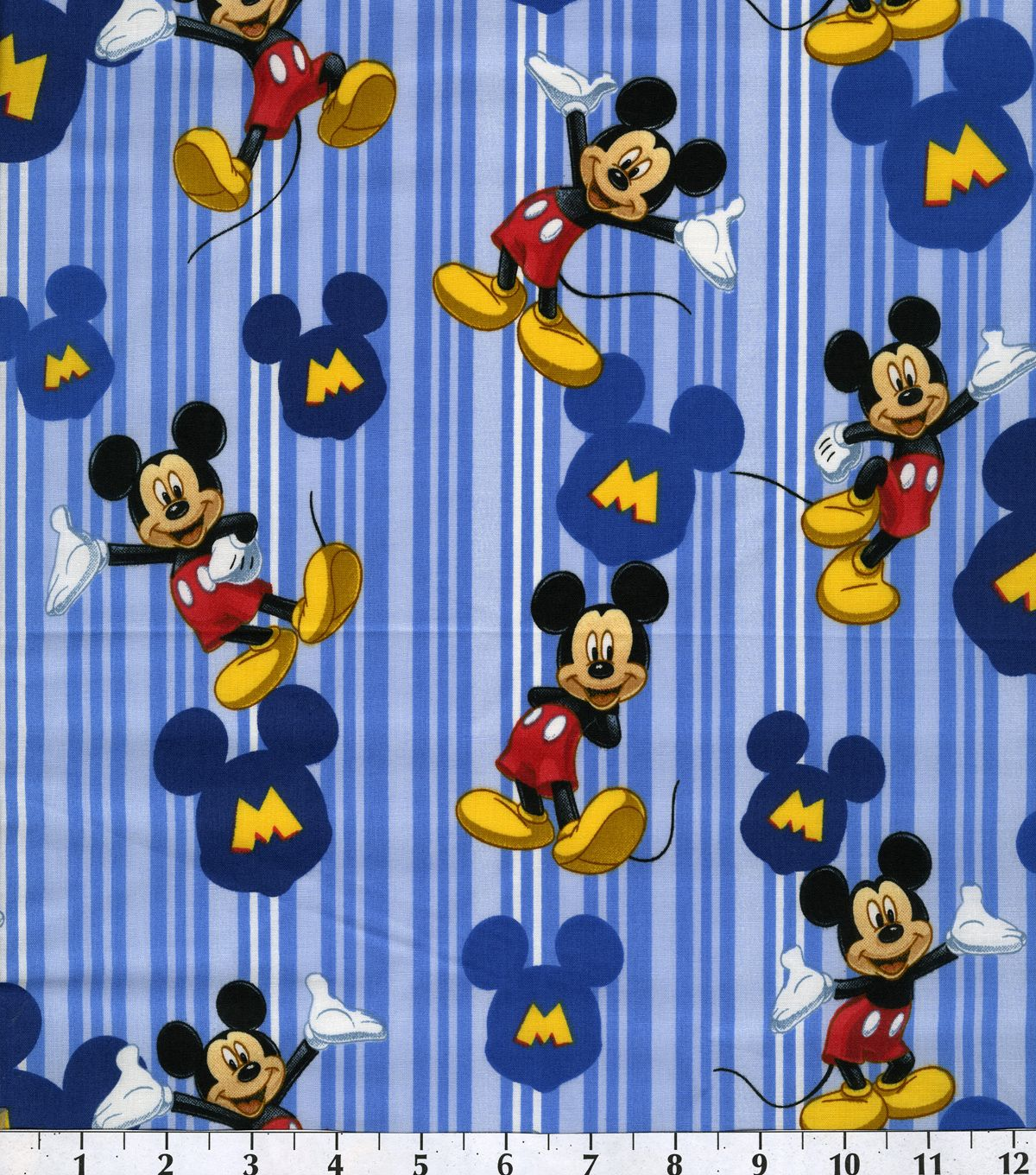 Disney Mickey Mouse Cotton Fabric Character Fish