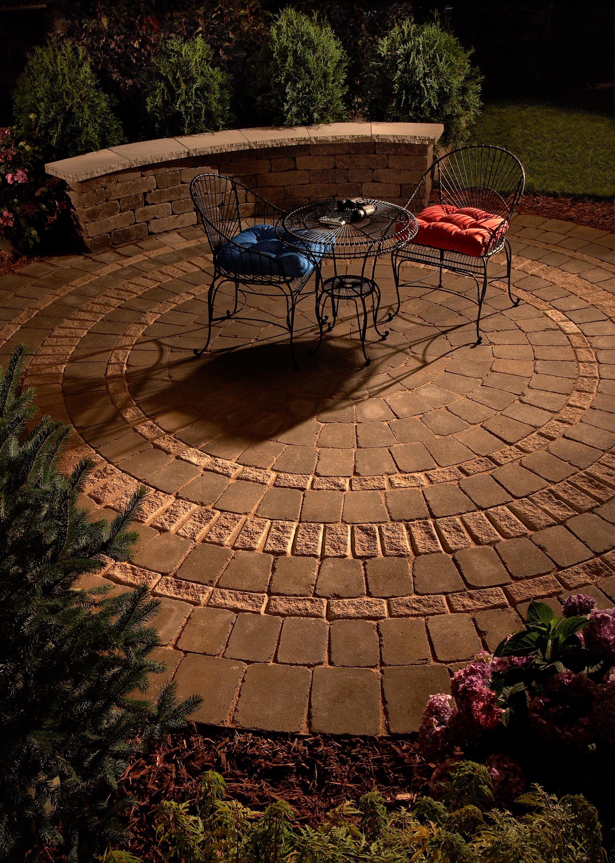 circular patio backyard patio