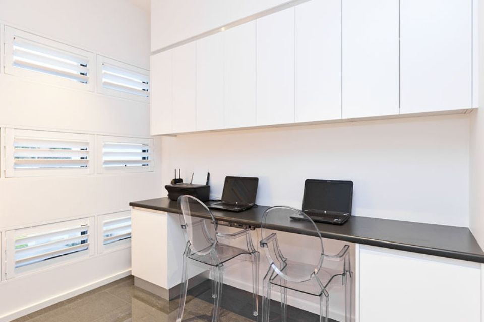 built in desk with overhead cupboards what i am after just in a style that would suit a. Black Bedroom Furniture Sets. Home Design Ideas
