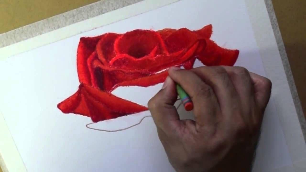 How To Draw Flowers Oil Pastels Rose Oleo Pastel Flores Rosa Pastel A Oleo Dibujos De Rosas Como Pintar Una Rosa Rosas Al Oleo