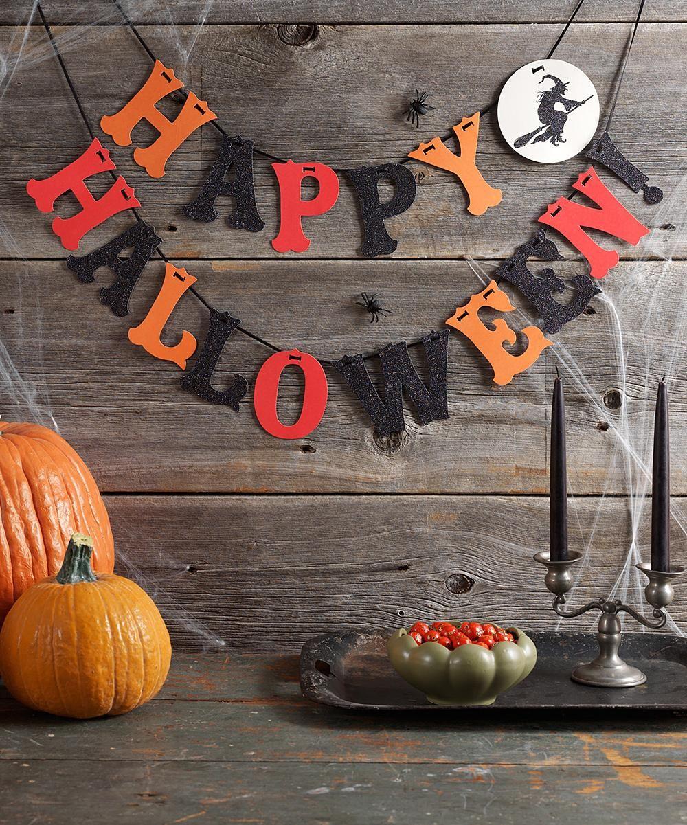 martha stewart crafts witch happy halloween garland home decor zulilyfinds - Martha Stewart Halloween Decor