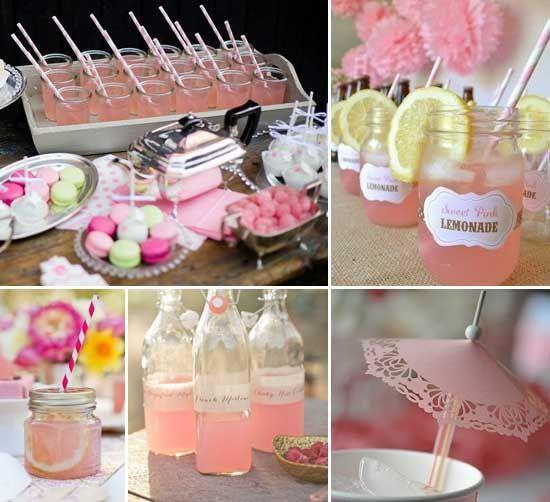 14 cocktail hochzeit rosa traenke zitrone dekoration Schirm