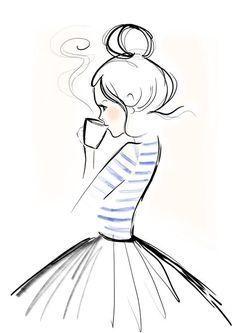 Einfache Aber Wunderschöne Zeichnung Man Wird Entspannt Und