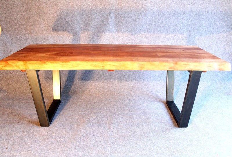 Wohnzimmertisch Metall ~ Tisch industrial design massiv holz metall sipo von möbel loft auf