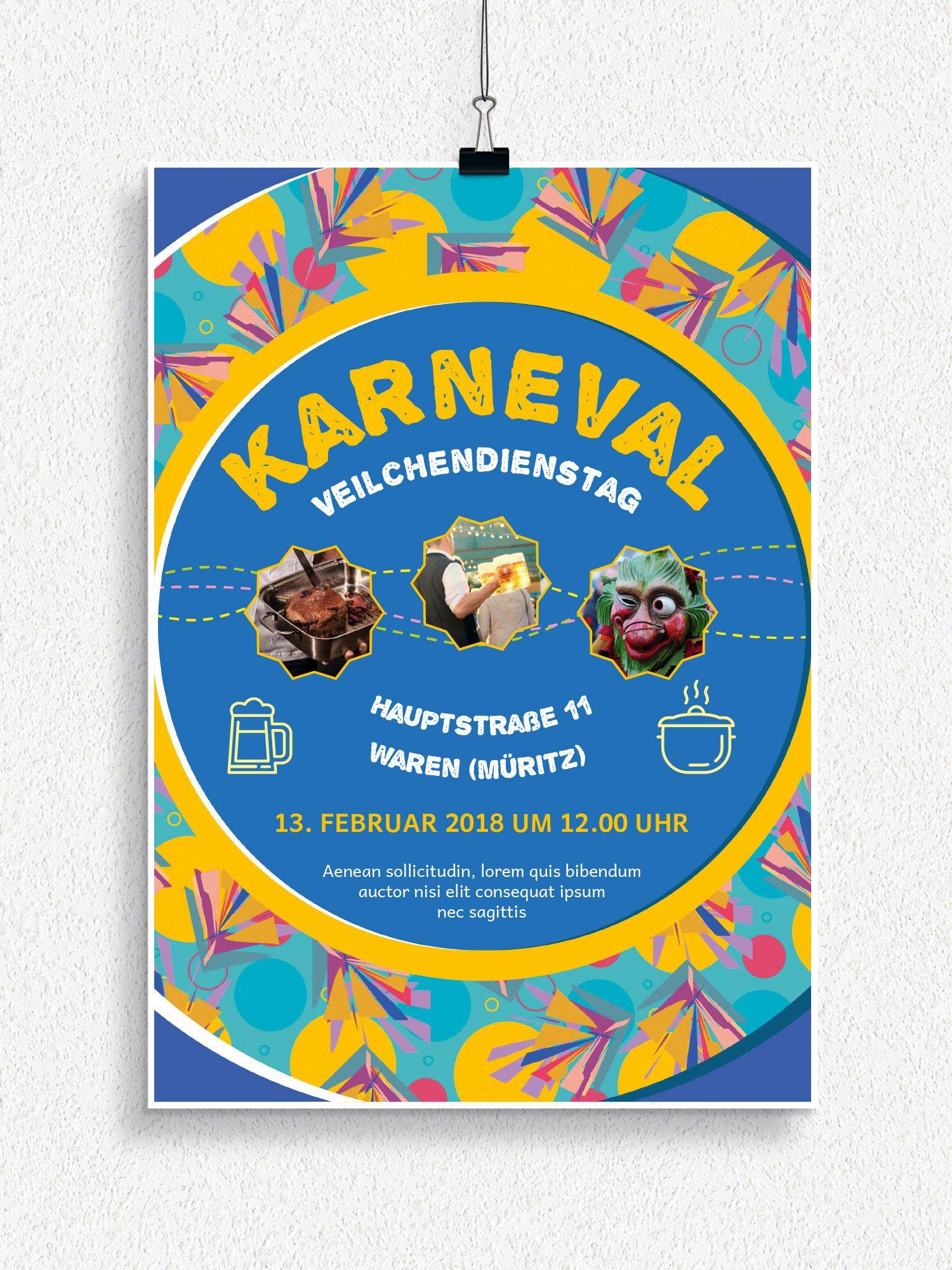 Plakat Und Flyervorlagen Fur Karneval Und Fasching Karneval Fasching Fastnacht