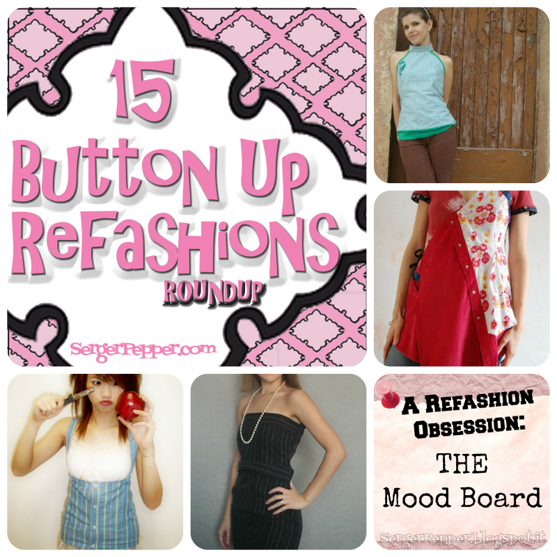 #ButtonUp Shirt #Refashion: A #RoundUp! #sewing #DIY SergerPepper.com