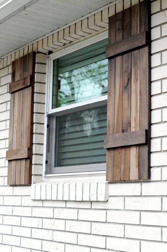 The Rustic Farmhouse Exterior Shutters Shown Here Are Made From