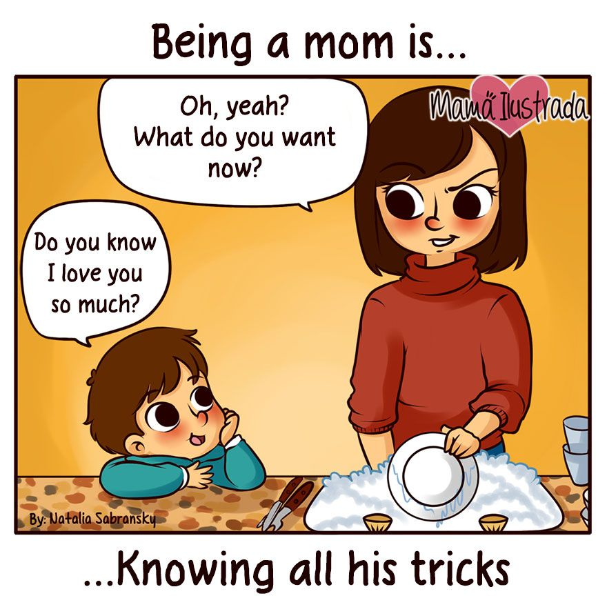 Being A Mom Is Comics Mom Mother Son Love