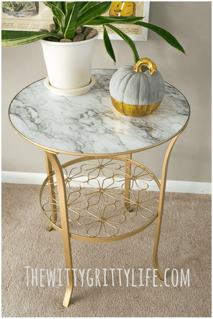 How To Make Over A Plain Ikea Table In Three Easy Steps Metallic Painted Furniture Ikea Coffee Table Painted Coffee Tables [ 1102 x 735 Pixel ]
