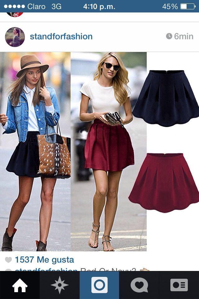 Falda guinda outfit  f92c87290839