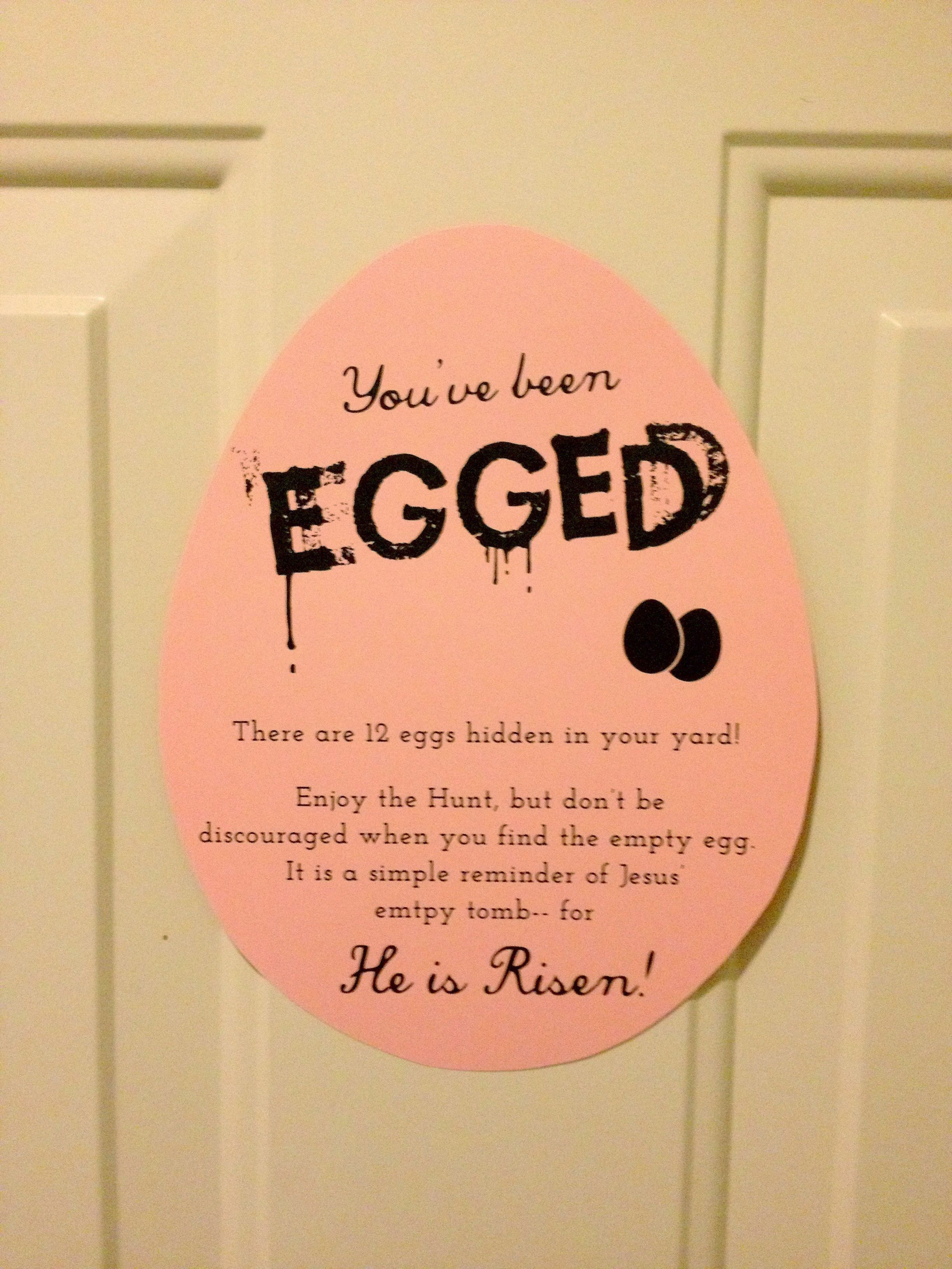 Youve been egged a free printable easter egg and holidays easter crafts negle Image collections
