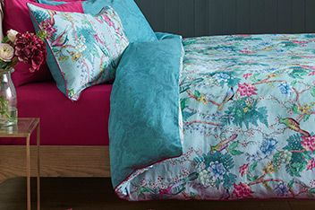 cotton sateen blue birds bed set house bedroom pinterest