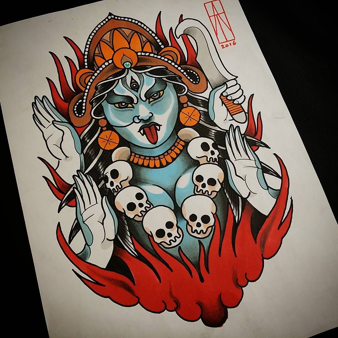 Kali Design Up For Grabs! #tattoodesign #kali #kalika