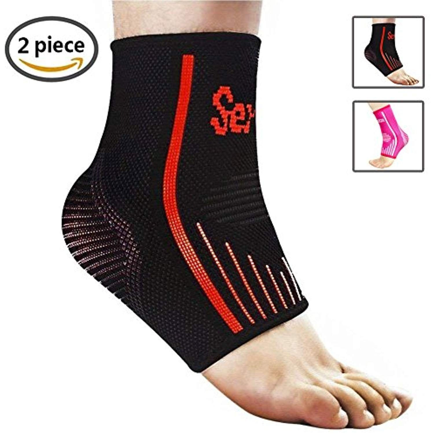 28a7b645e3 Senston Ankle Brace Breathable Ankle Support Compression Ankle Sleeves for  Running Basketball Ankle Sprain Men Women