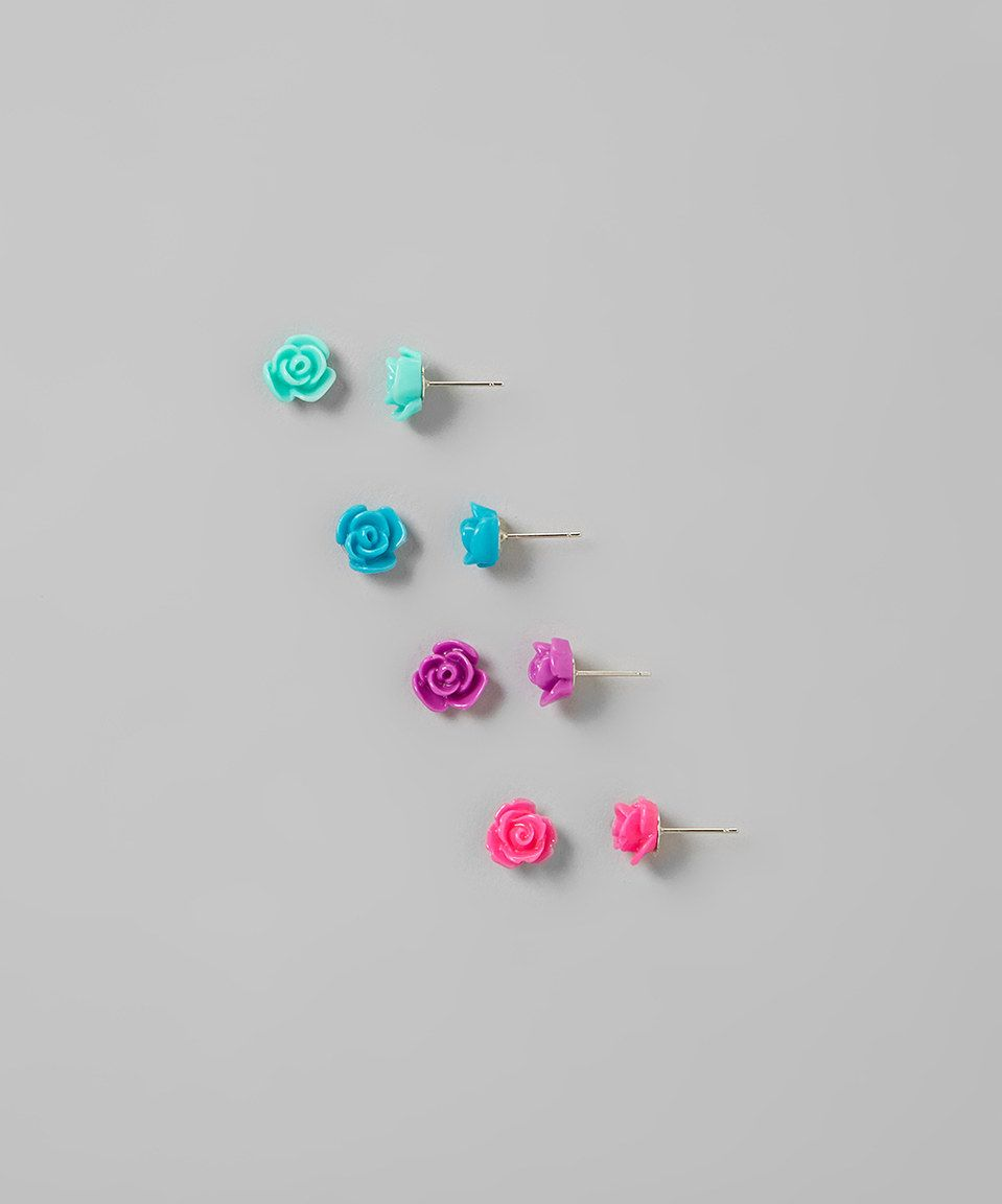 Look what I found on #zulily! My Sunshine Shoppe Ocean Sunset Rose Stud Earrings Set by My Sunshine Shoppe #zulilyfinds