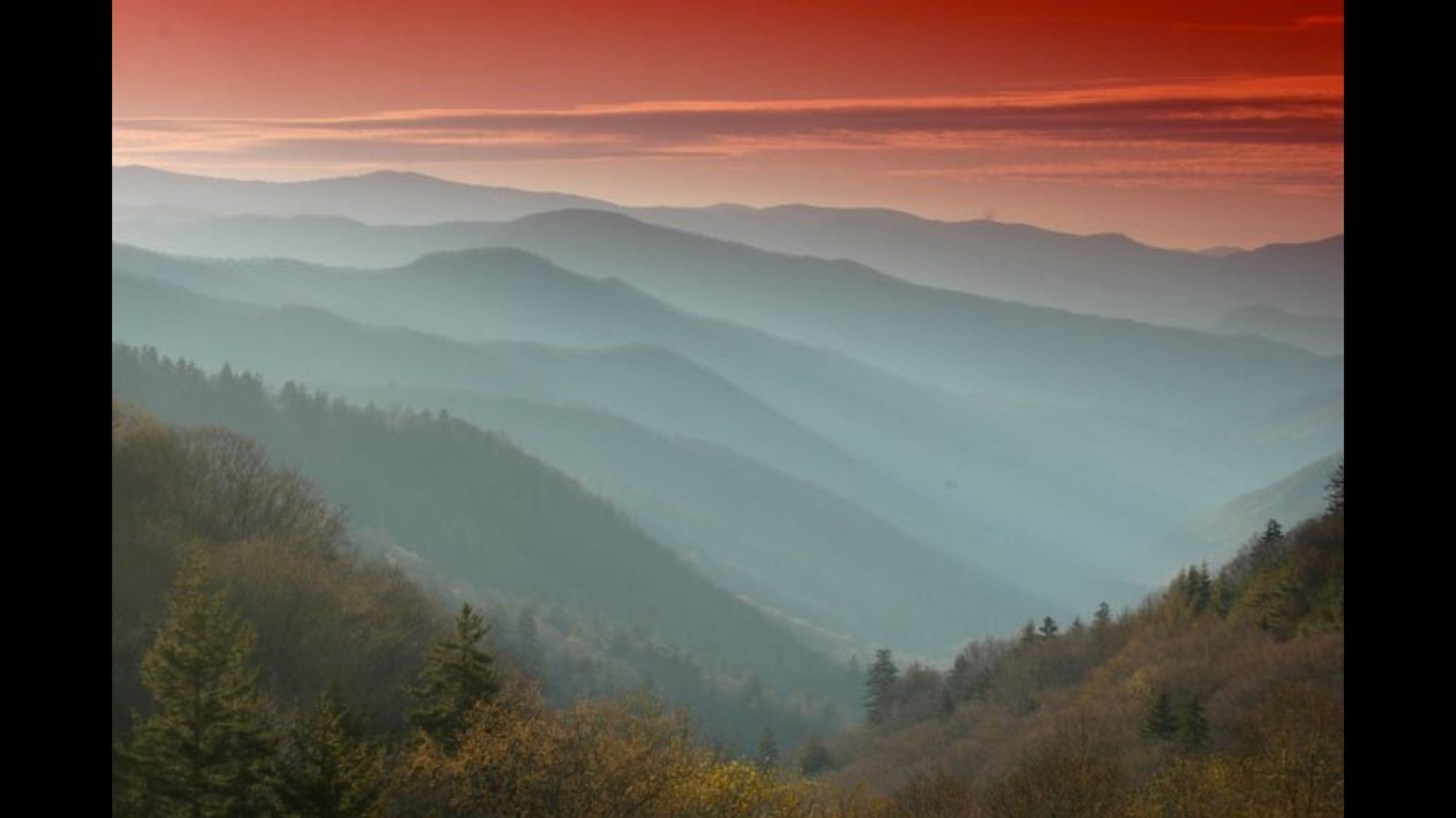 The beautiful Smoky Mountains!