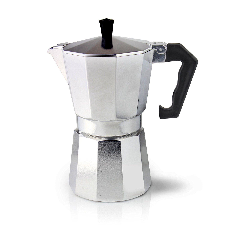Cafe ole 9cup italian style aluminium espresso coffee