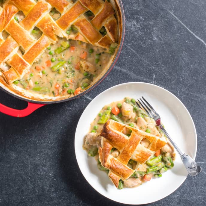 Chicken Pot Pie With Spring Vegetables America S Test Kitchen In 2020 Pot Pies Recipes Chicken Pot Pot Pie