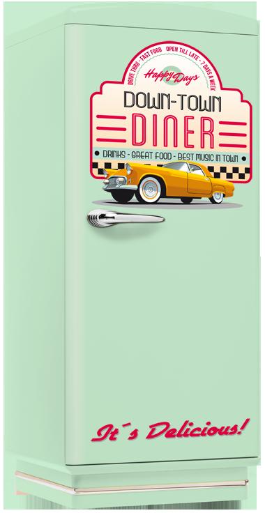Kühlschrank Amerikanisches Design amerikanischer nostalgie kühlschrank in hellblau town diner