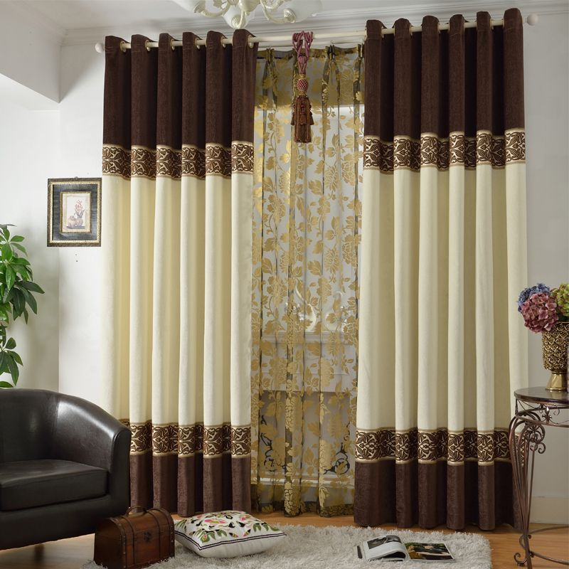 quality modern chinese style chenille cloth window curtain 24 64