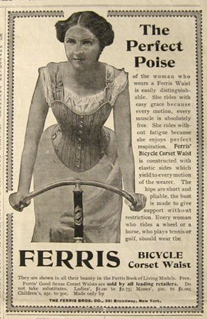 1900 ferris bicycle corset waist ad  vintage outfits