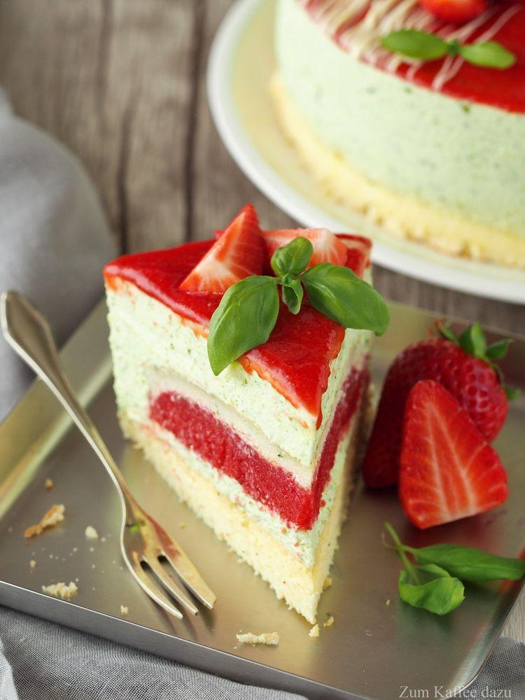 Der erste Streich oder Erdbeer-Basilikum-Torte – Zum Kaffee dazu