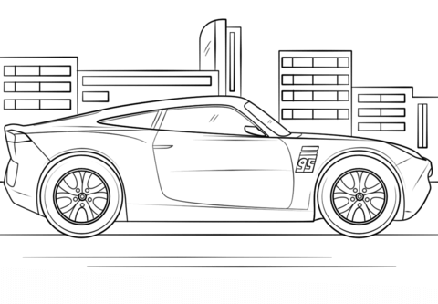 Cruz Ramirez From Cars 3 Coloring Page Cars Coloring Pages Race