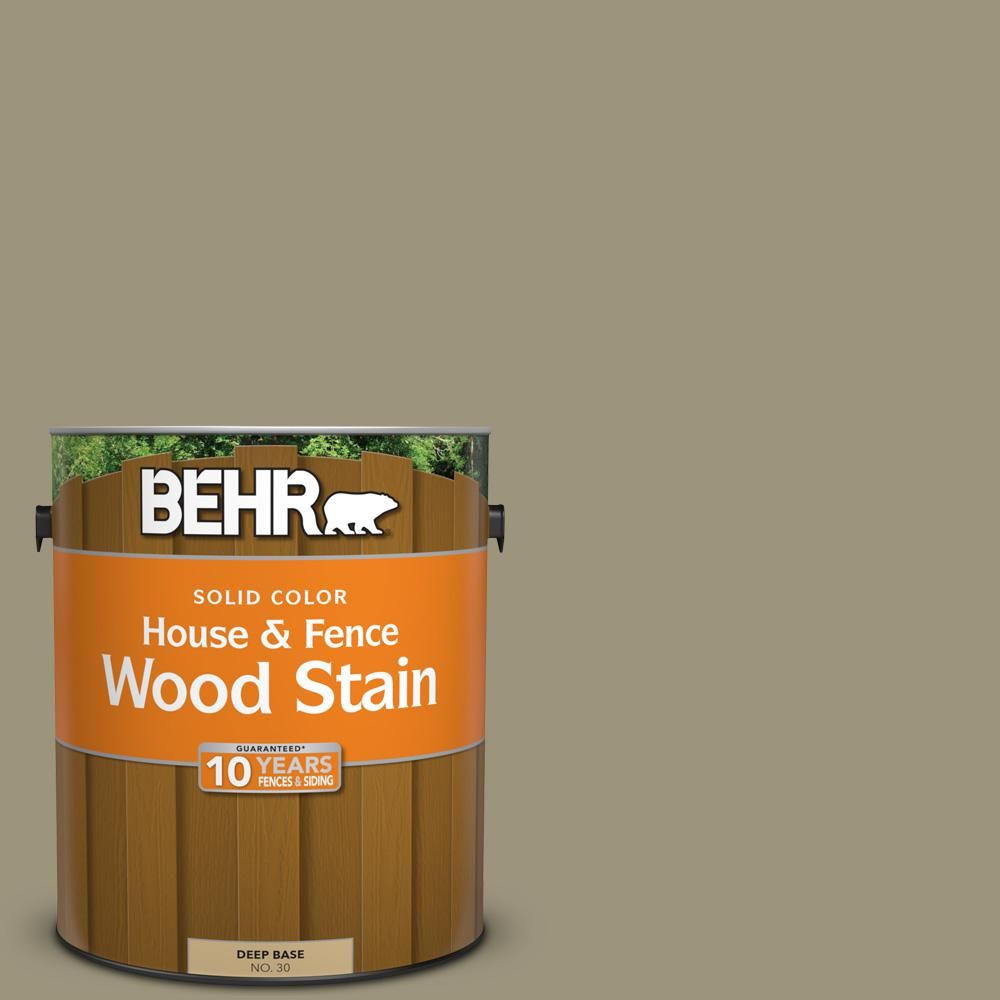 Behr 1 Gal 760d 5 Shortgrass Prairie Solid Color House And Fence Exterior Wood Stain 03001 Staining Wood Exterior Wood Stain Exterior Stain