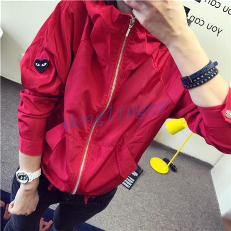 Womens Hooded Jacket Sport Coat Zip Korean Outwear S-2Xl Fahsion Girls Campus