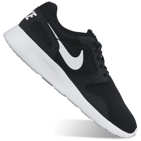detailing f0c38 4a8e9 Nike Kaishi Run Women s Running Shoes, Size  9.5, Black White ( 65) ❤ liked  on Polyvore featuring shoes, athletic shoes, zapatillas, black white, ...