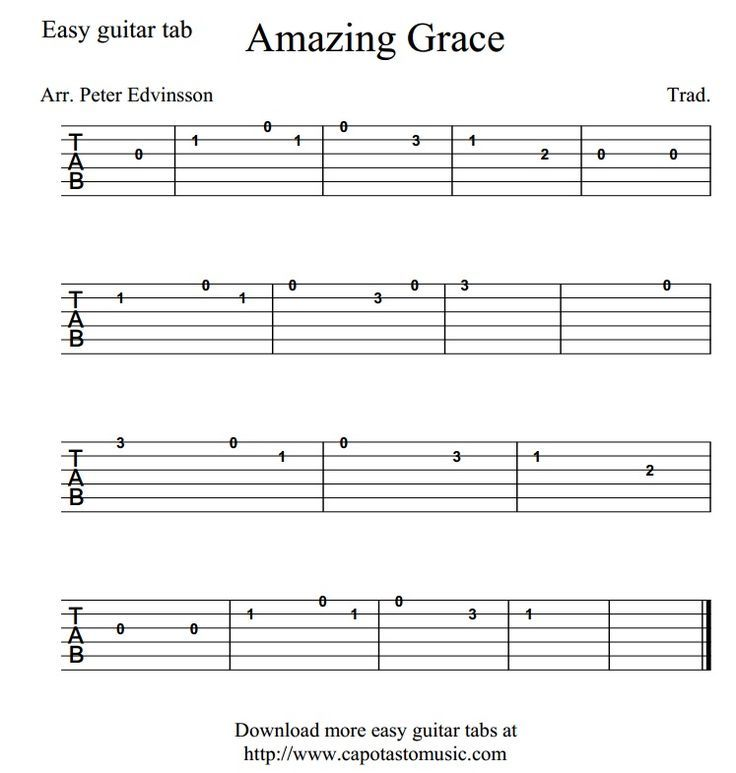 Basic C Chords Amazing Grace