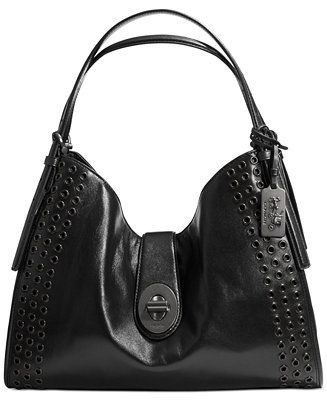 Coach Madison Grommets Carlyle Shoulder Bag In Leather Handbags Accessories