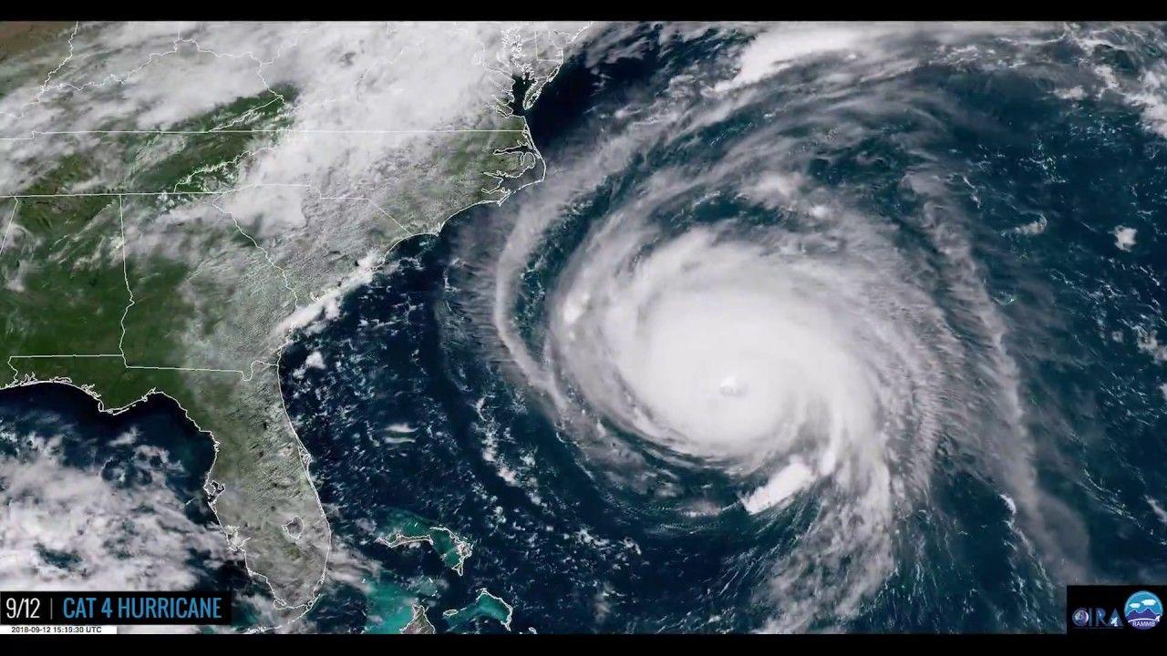 Stunning Satellite Time Lapse Of Hurricane Florence S Entire Life Hurricane Atlantic Hurricane Florence