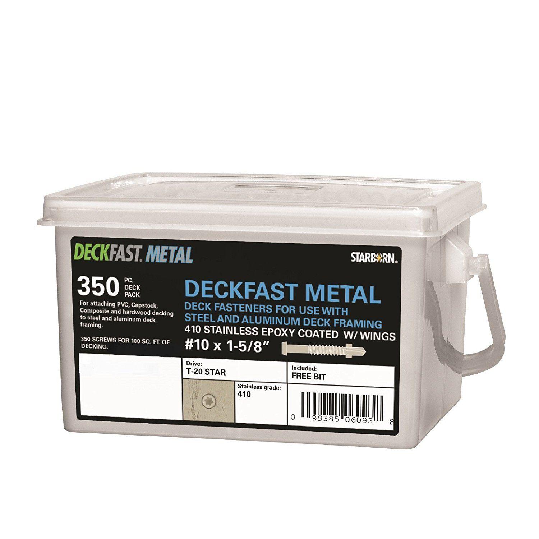 Deckfast Metal Cedar 81 350 Pc Deck Pack 1 5 8 Self Drill Type 410 Stainless Steel Deck Fastener For Use Steel Deck Aluminum Decking Deck Framing